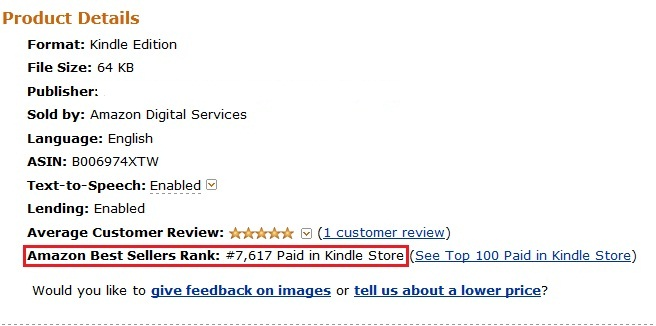 Kindle Ranking System